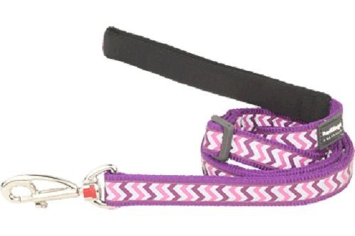 Red Dingo Reflective Ziggy Dog Lead, Medium-Large, Purple by Red Dingo