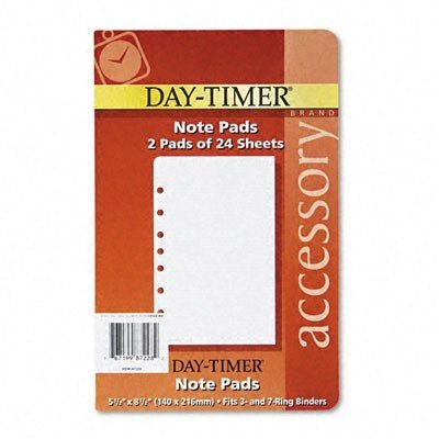 DTM87228 - Lined Note Pads for Organizer by Day-Timer