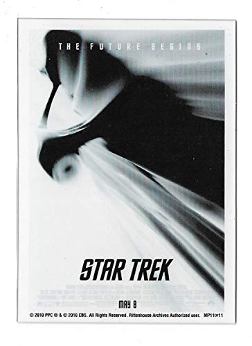 Movie Case Topper Card - 2017 Rittenhouse Archives Star Trek Beyond Case Topper MP11 Star Trek 2009 Movie Poster Card Clear Plastic