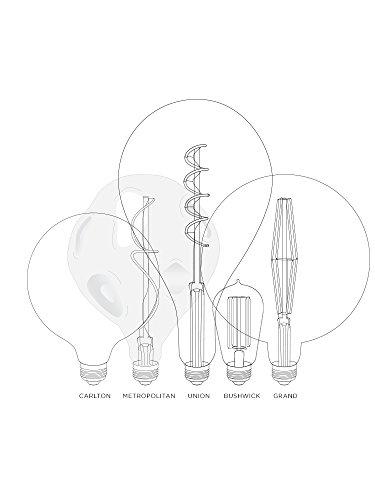 Large Decorative Led Bulb A52 Teardrop Shape 12 Height Warm