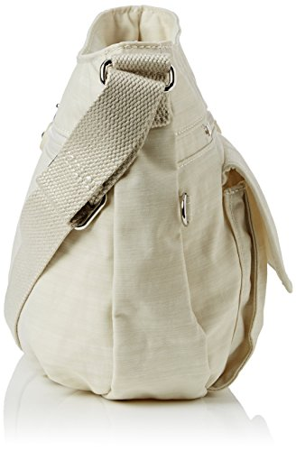 Kipling SYRO BP - Bolso de hombro de material sintético para mujer, talla 31x22x13 cm (B x H x T) Hueso (Dazz Cream)