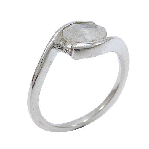 Banithani 925 concepteur argent pur moonstone blanc belle bague bijoux fantaisie