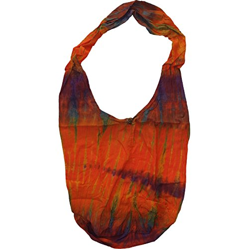 Orange Boy Girl Purse Mens Ladies Hobo Handbag Women Messenger Strap Tie One Dye 4Bqfr4A