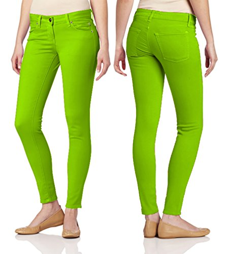 Pocket Apple Skinny Jean (Dinamit Jeans Juniors's Color Skinny Leggings Like Jeans Apple 9)