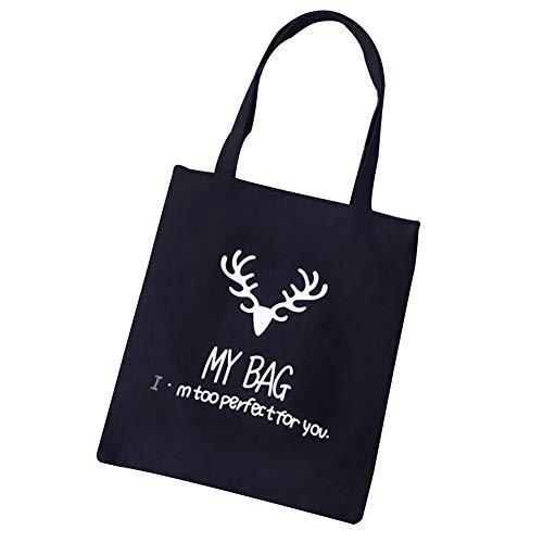 multi uomini borsa giovani nero pattern morbido bag canvas Charma moda borsa Cervo tessuto S qgxHna