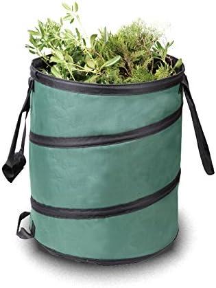 33 Gal Camping Garbage Can Trash Bin Portable Yard Waste Clean Up Bag Storage