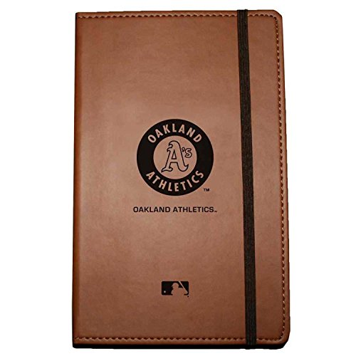 C.R. Gibson Large Leather Bound Journal, Oakland Athletics (M837454TG)
