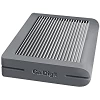 CalDigit Tuff USB-C 1TB SSD Portable Rugged Tough USB 3.1 Type-C, Macbook, 2016 Macbook Pro, Thunderbolt 3 Compatible (Gray SSD)