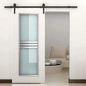 barn door kitchen cabinets rustic interior sliding kit hardware set black carbon steel arrow ideas cupboards