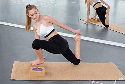 Yogablock 2 St/ück Yoga Bl/öcke aus Kork 2er Set