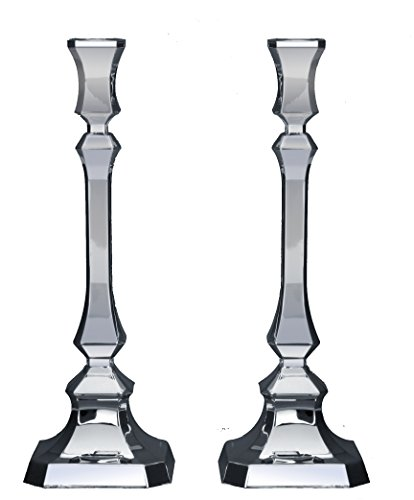 Hazorfim Neora Smooth Silver Candlesticks - Medium Shabbat candlestick sterling silver judaica Israel Jerusalem Holy land gift Sabbath candles light .925 925 wedding gift present hatzorfim by Hazorfim