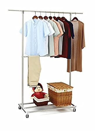 Sunpace Heavy Duty Garment Rack Rolling Sun003 Commercial Grade Pipe Clothing Garment Rack Store by Sunpace