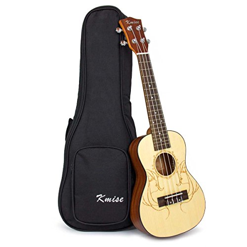 Kmise Solid Spruce Acoustic Concert Ukulele Uke Hawaii for sale  Delivered anywhere in USA