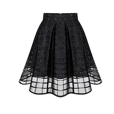 VEZAD Net Skirt Women Organza Skirts High Waist Zipper Ladies Tulle Skirt