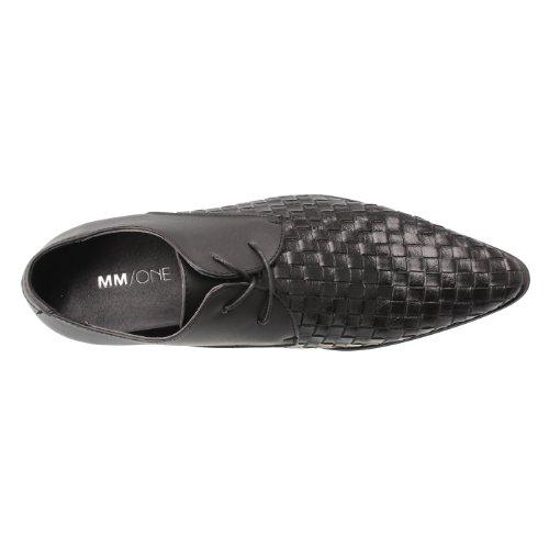 Mm / One Richelieus Hommes Chaussures À Lacets Monkstrap Résistant À Leau Droite Médaillon Vélo Orteil Gore Noir Mpt120-2-k Noir