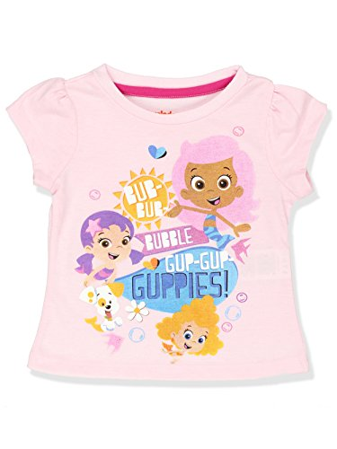 Bubble Guppies Girls Short Sleeve Tee (4T, Light Pink) ()