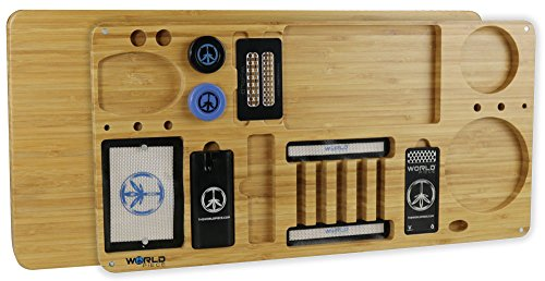 World Piece Bamboo Rolling Tray - 20
