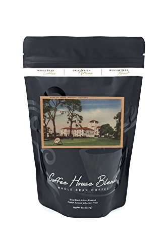 Hotel Del Monte and Archery Lawn - Monterey, CA (8oz Whole Bean Small Batch Artisan Coffee - Bold & Strong Medium Dark Roast w/ - Monterey Monte Del