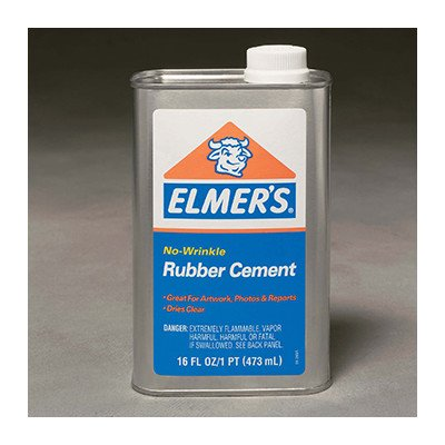 Rubber Cement Can 16oz. by Elmer's