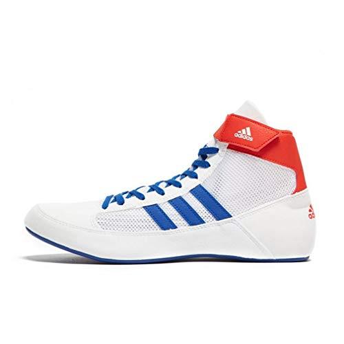 (adidas Havoc Mens Adult Wrestling Trainer Shoe Boot White/Blue/Red - UK 8.5)
