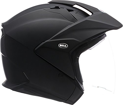 Bell Mag-9 Open Face Motorcycle Helmet (Solid Matte Black, Medium)