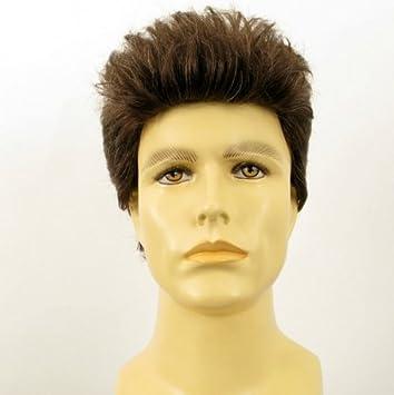 perruque homme cheveux naturels courte chatain