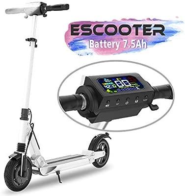 COLORWAY Scooter Patinete Eléctrico Plegable Ruedas de 8 Pulgadas con Batería 7.5 AH Motor 350W Máxima Velocidad 30KM/H Pantalla LCD