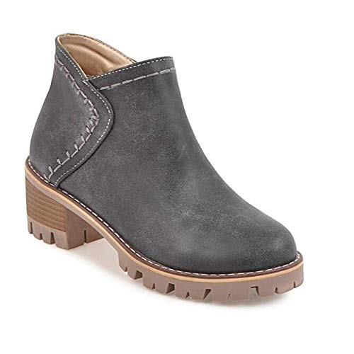 IWxez Damenmode Stiefel Stiefel Stiefel PU (Polyurethan) Herbststiefel Chunky Heel Closed Toe Stiefelies Stiefeletten Grau Gelb Khaki 40973d