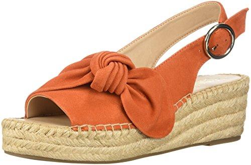 Pirouette Women's Sarto Tangerine Franco Wedge Espadrille Sandal wEzxqqS5