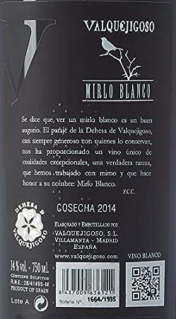 Valquejigoso Mirlo, Vino Blanco, 75 cl - 750 ml
