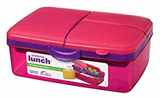 Sistema Lunch Collection Slimline Quaddie Lunch Box Food Storage Container, 50.7 Ounce/ 6.3 Cup, Assorted Colors (B00284AG8W) | Amazon price tracker / tracking, Amazon price history charts, Amazon price watches, Amazon price drop alerts