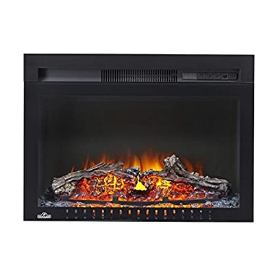 Napoleon NEFB24HG-3A Cinema Glass Series Built-In Electric Fireplace, 24 Inch