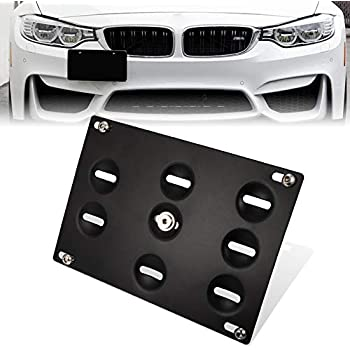 For 14-Up BMW F22 2-Series No PDC Front Tow Hook License Plate Relocator Bracket