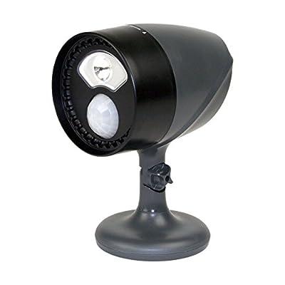 Dorcy 41-1071 180-Degree Wireless Motion Sensing LED Flood Light, 120-Lumens, Black Finish
