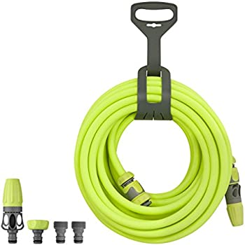 Flexzilla Garden Hose Kit with Quick Connect Attachments, 1/2 in. x 50 ft., Heavy Duty, Lightweight, Drinking Water Safe - HFZG12050QN