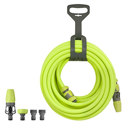 Flexzilla Garden Hose Kit with Quick Connect Attachments, 1/2 in. x 50 ft., Heavy Duty, Lightweight, Drinking Water Safe – HFZG12050QN, Green