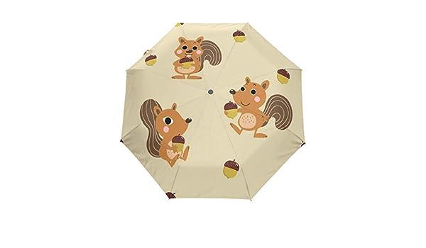 fa43789ae895 Amazon.com: senya Automatic Open Close Umbrella Cute Squirrel Anti ...