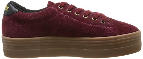 Plato Rouge Baskets Burgundy Sneaker femme Name No Split mode zwaRcf
