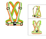 Safety Vest, Reflective Running Vest High Visibility for Running Cycling Dog Walking Motorcycle Climbing etc Fully Adjustable Fit for Most People