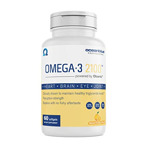Ocean Blue | Omega-3 2100 | EPA and DHA | Wild Caught Alaskan Fish Oil | 60 Count