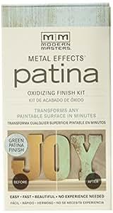Modern Masters 306270 2 oz Metal Effects Patina Oxidizing Finish Kit, Green Patina Finish