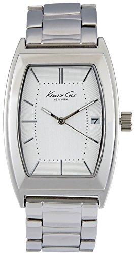 - Kenneth Cole New York Men's Brushed Silvertone Barrel Link Watch