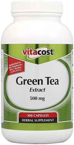 Vitacost Green Tea Extract - Standardized -- 500 mg - 300 Capsules