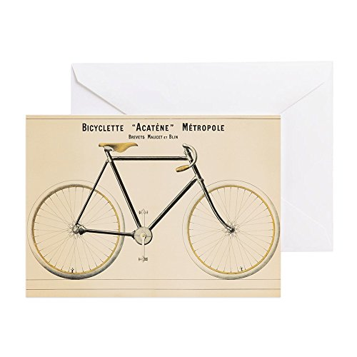CafePress - Bicycle, Vintage Poster Greeting Cards - Greeting Card, Note Card, Birthday Card, Blank Inside (Bicycle Advertisement Poster)
