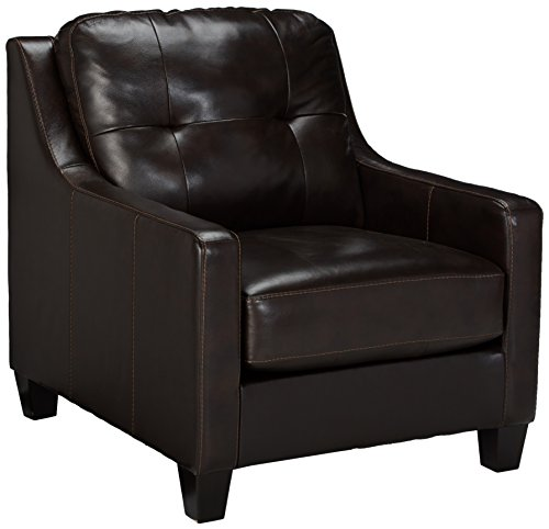 Ashley Furniture Signature Design - O'Kean Upholstered Leather Chair - Contemporary - Mahogany ()