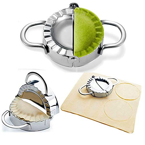BellaBetty Dumpling Maker - Dumpling Press/Stainless Steel Empanada Press/Pie Ravioli Dumpling Wrappers Mold Kitchen Accessories (9.5cm/3.74