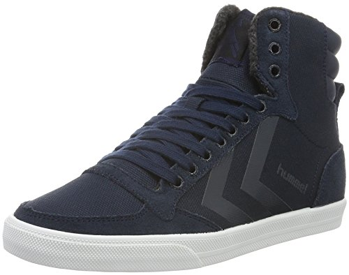 Hummel Slimmer Stadil Smooth Canvas, Zapatillas Altas Unisex Adulto Azul (Total Eclipse)