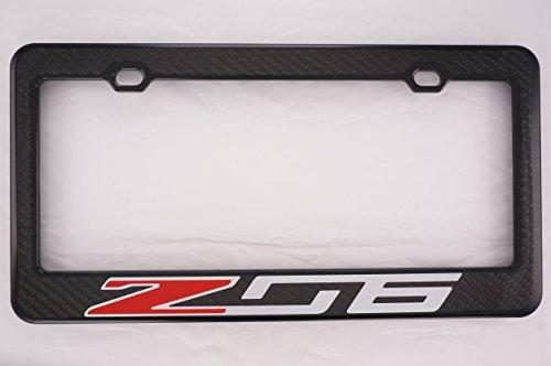 (Chevy Z06 Carbon Fiber Front License Plate Frame )