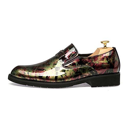 Chaussures pour à SEVENZAI Doré Homme Ville de Lacets qgTBOw