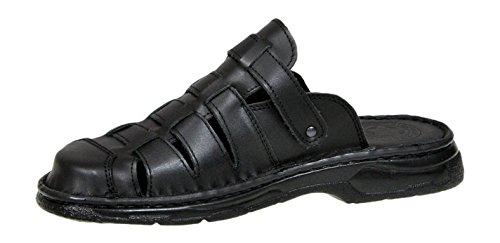 Modello di Vera Bufalo Ortopediche Nero Comode Sandali Calzature 860 Pelle Scarpe wx8BnBSqC
